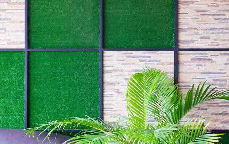grama para decoração otimizada