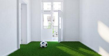 instalar grama dentro de casa