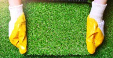 paisagismo com grama sintética
